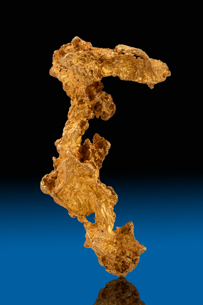 Long and Intricate Gold Nugget from Koolgarie, Australia