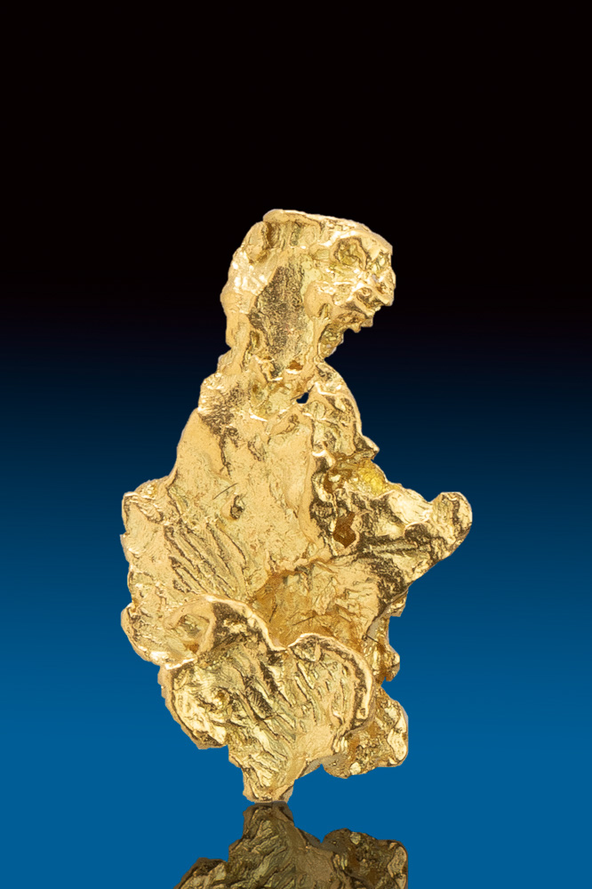 Brilliant Elongated Gold Nugget from Alaska