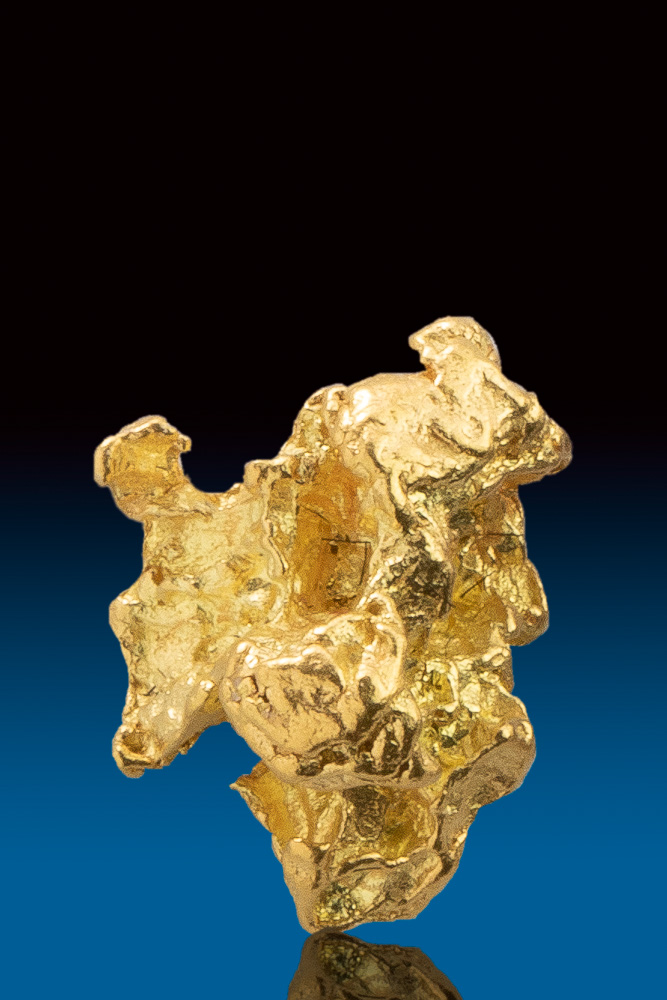 Shiny and Amazingly Detailed Alaskan Gold Nugget