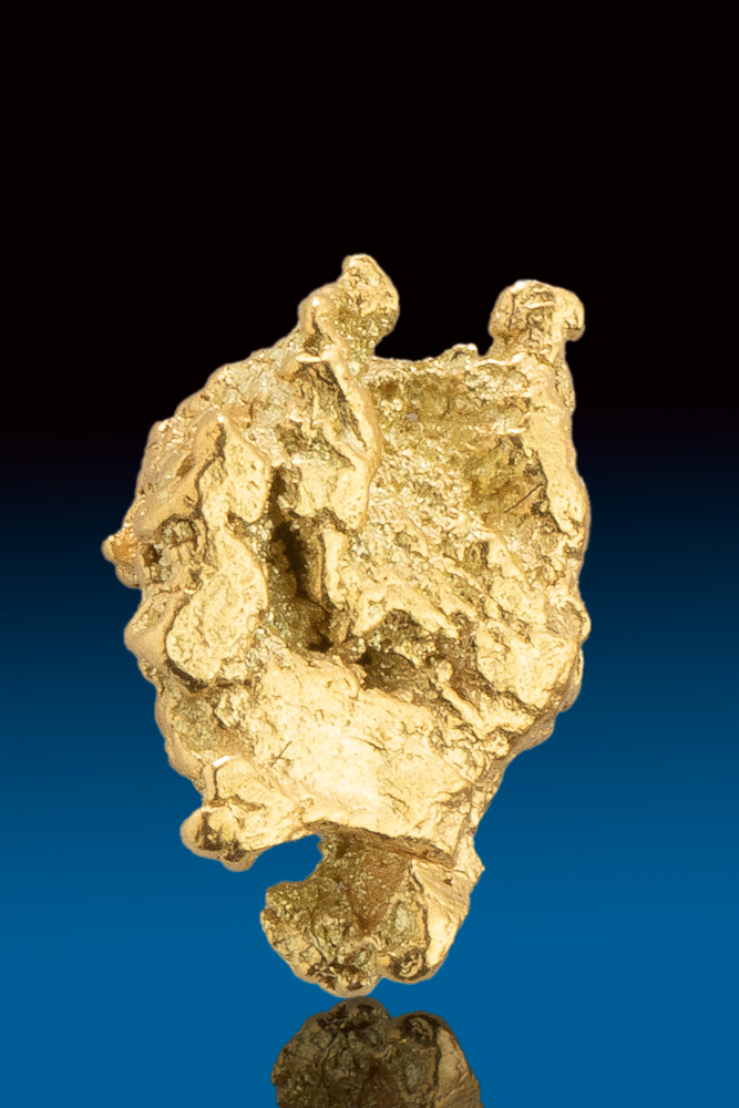 Shiny and Beautifully Textured Alaskan Gold Nugget