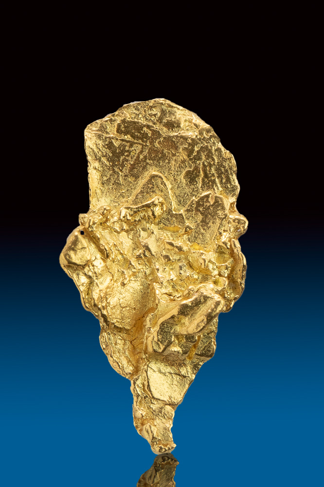 Rare Textured Shiny Alaskan Gold Nugget
