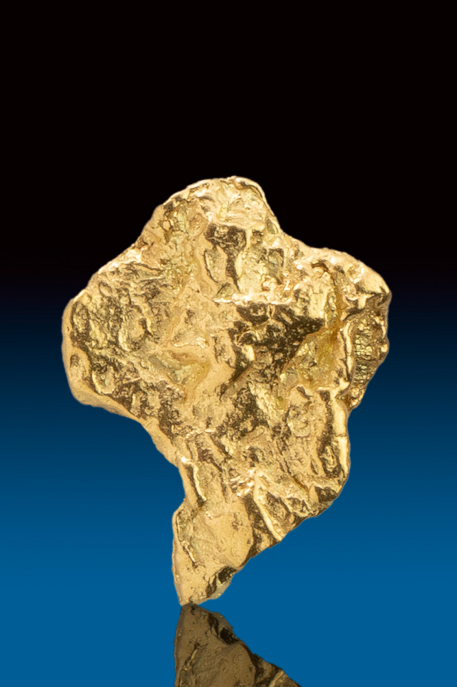 Beautiful Textured Rare Gold Nugget from Alaska