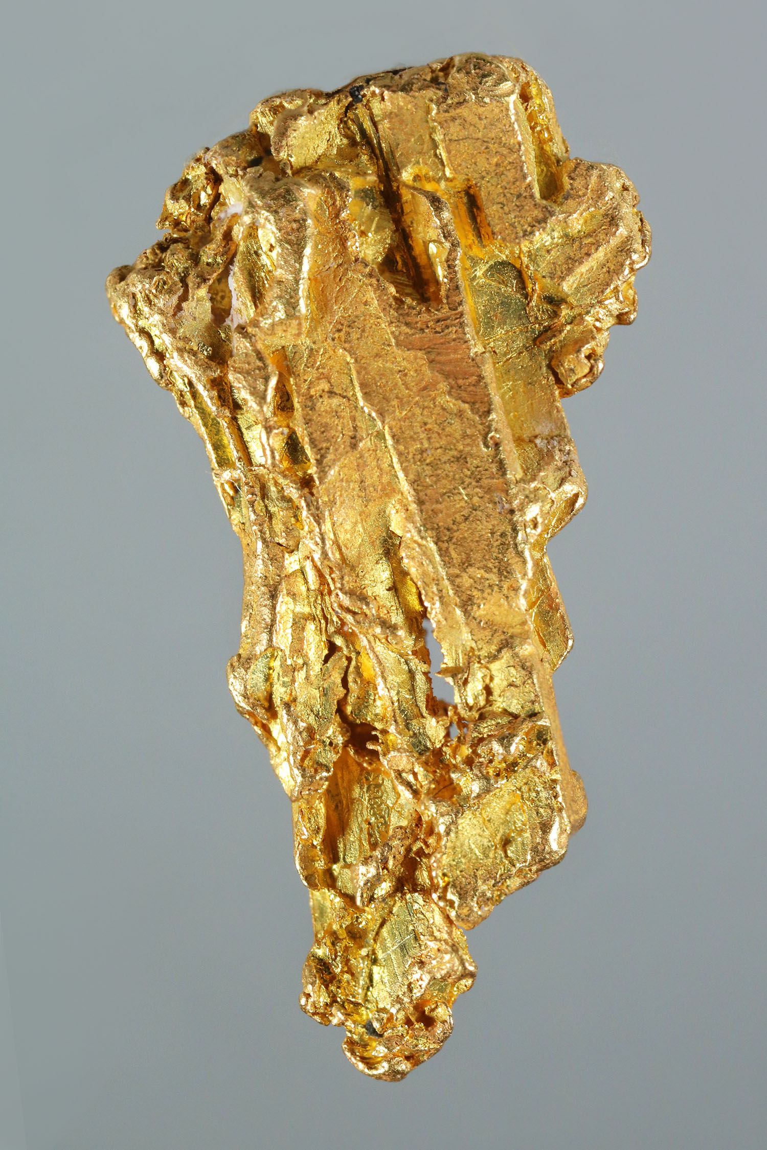 Long Striations and Chevron Crystals - Yukon Gold Crystal Nugget