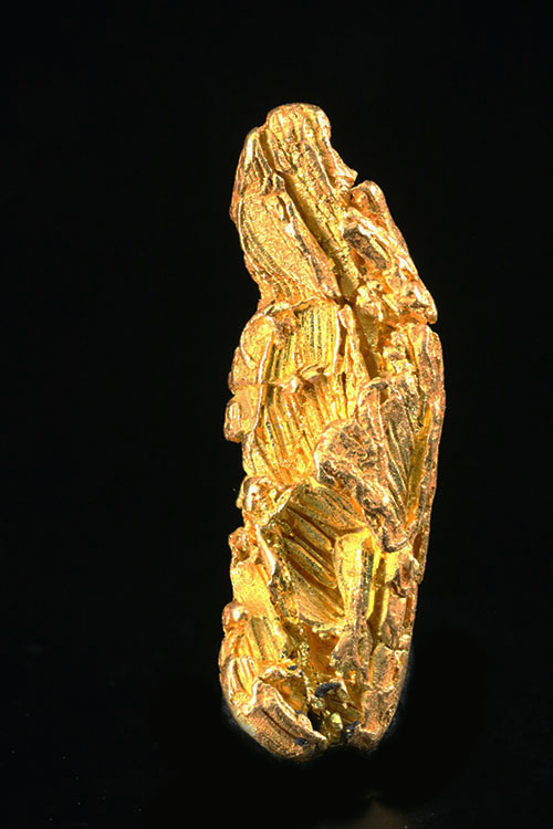 Very Rare Hoppered Gold Crystal from the Yukon