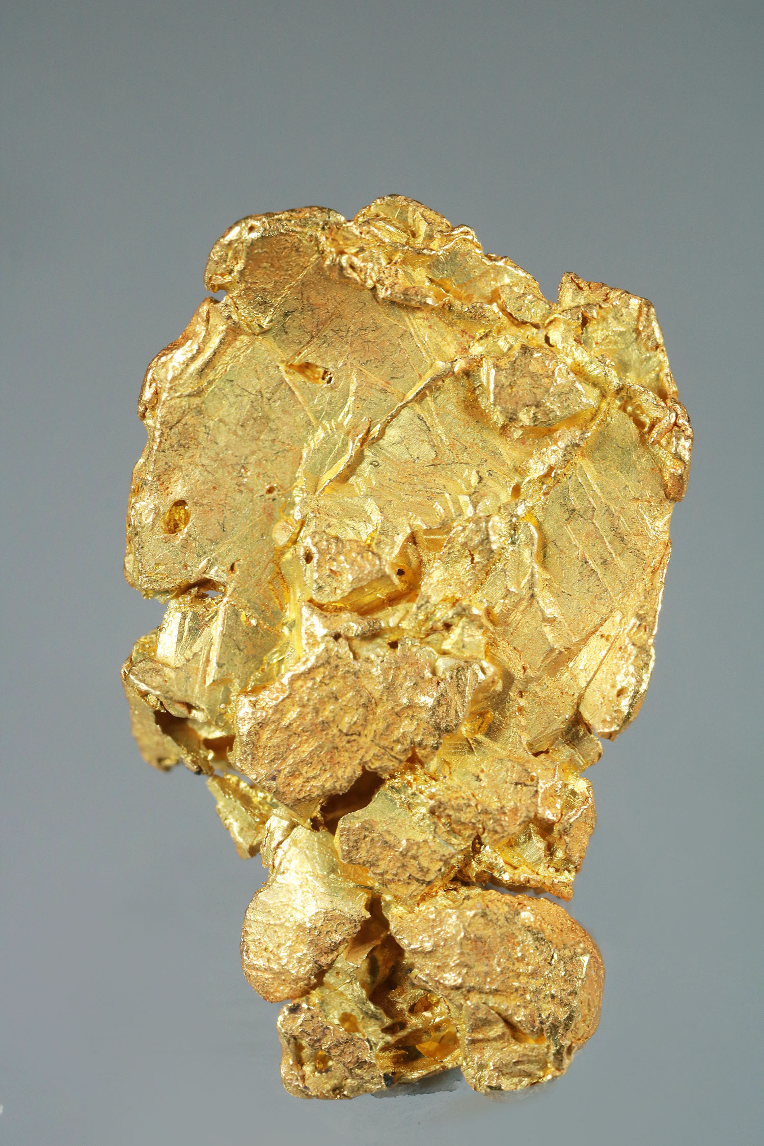 Crystallized plate Gold from the Yukon