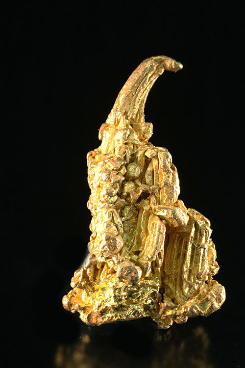 Extremely Rare Gold Wire and Gold Crystal from the Yukon