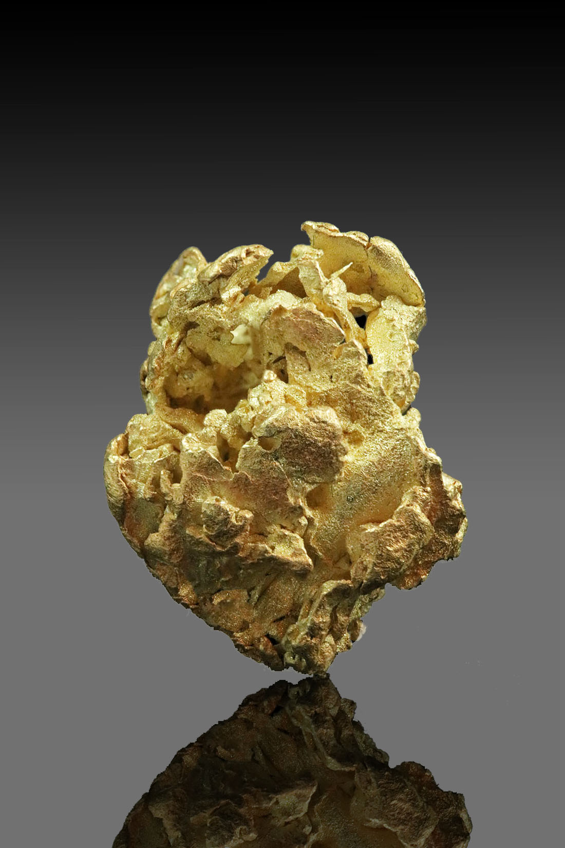 Wavy Leaf Gold Cluster Nugget - A Rarity from Alaska