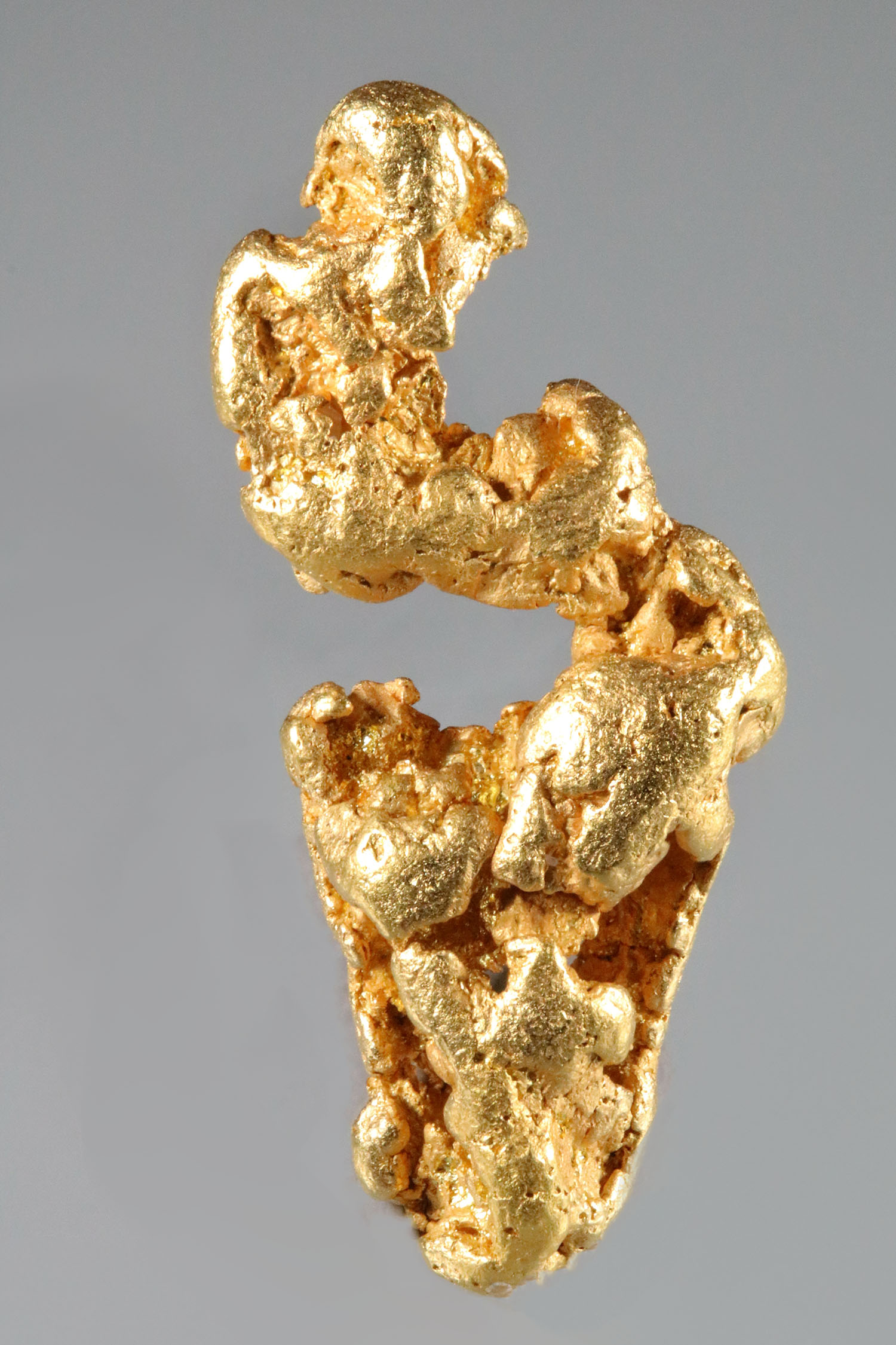 Yukon Gold Nugget with a Spectacular Curved Formation