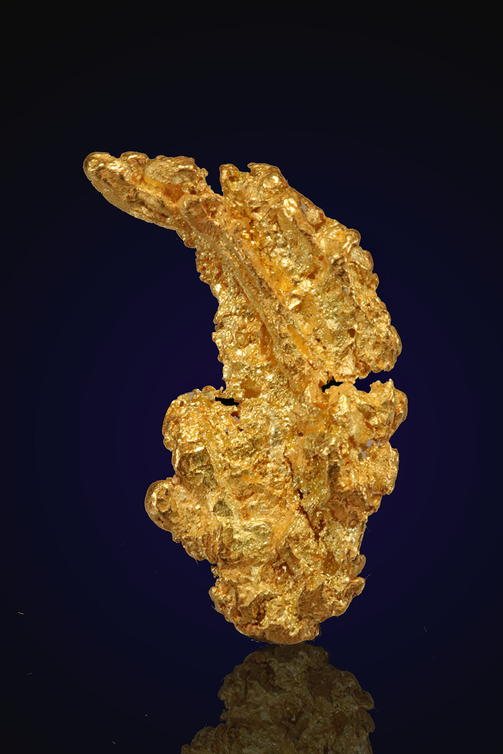 Sharp crystalline gold nugget from Alaska
