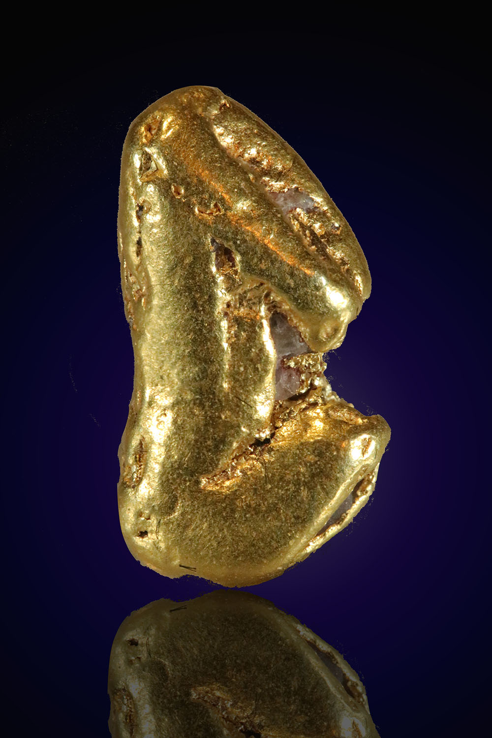 Smooth and Oblong Alaskan Gold Nugget