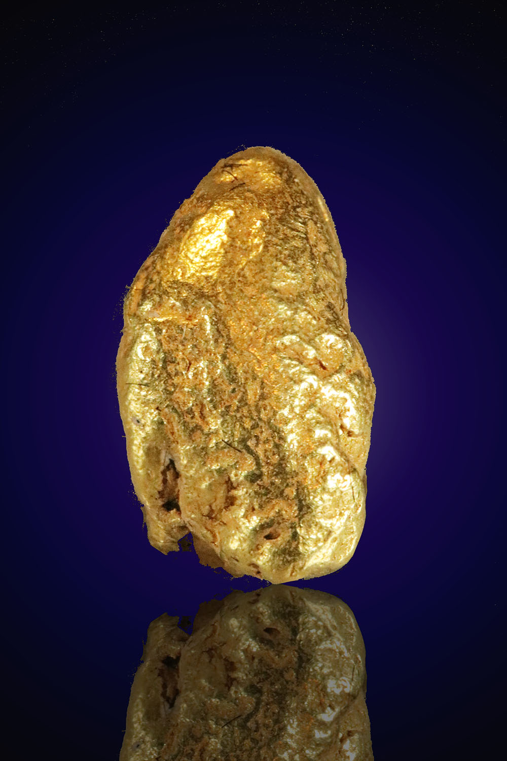River Worn Smooth Gold Nugget From Alaska