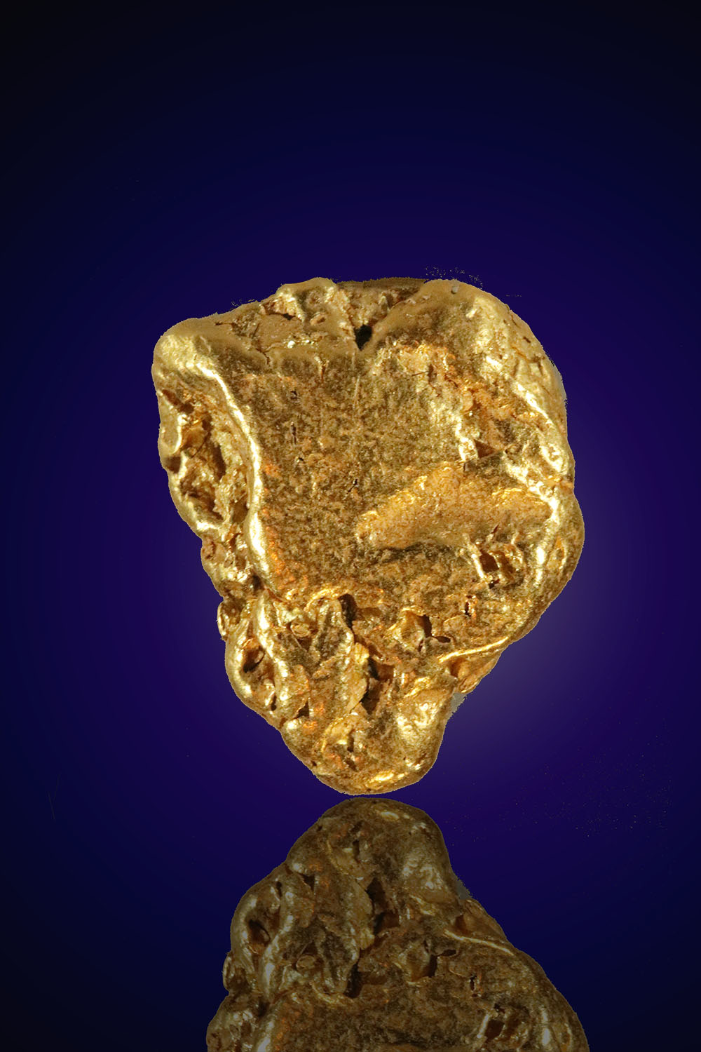 Triangle Textured Gold Nugget From Alaska