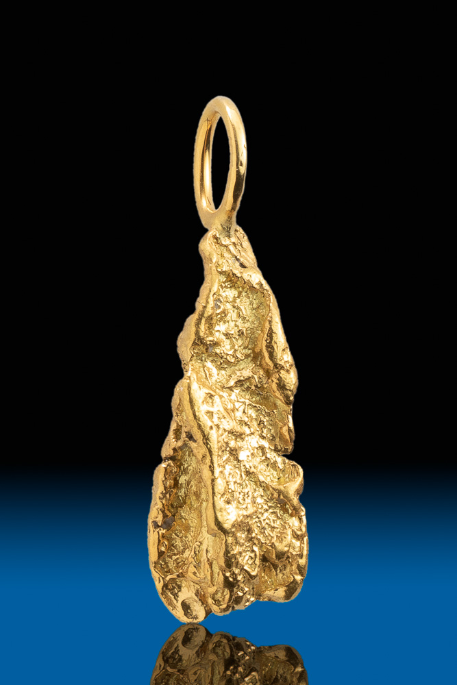 Hand Selected Natural Alaskan Gold Nugget Pendant