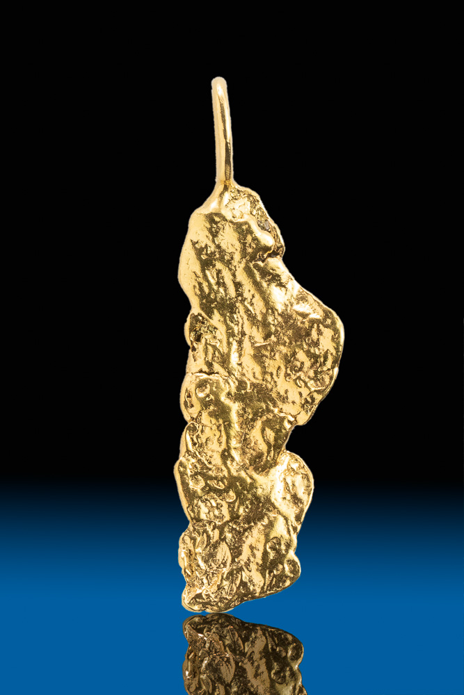 Brilliant and Shiny Natural Alaskan Gold Nugget Pendant