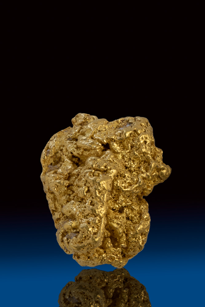 Textured Shiny Natural Gold Nugget from the Yukon Territory