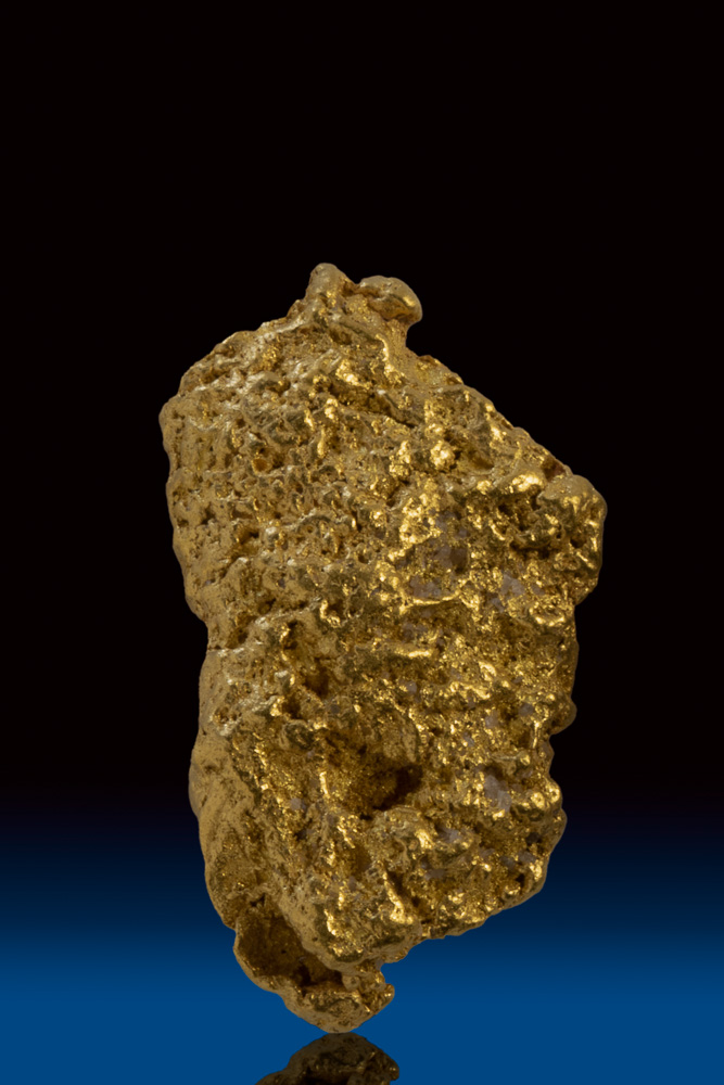 Brilliant Textured Natural Gold Nugget from the Yukon Territory