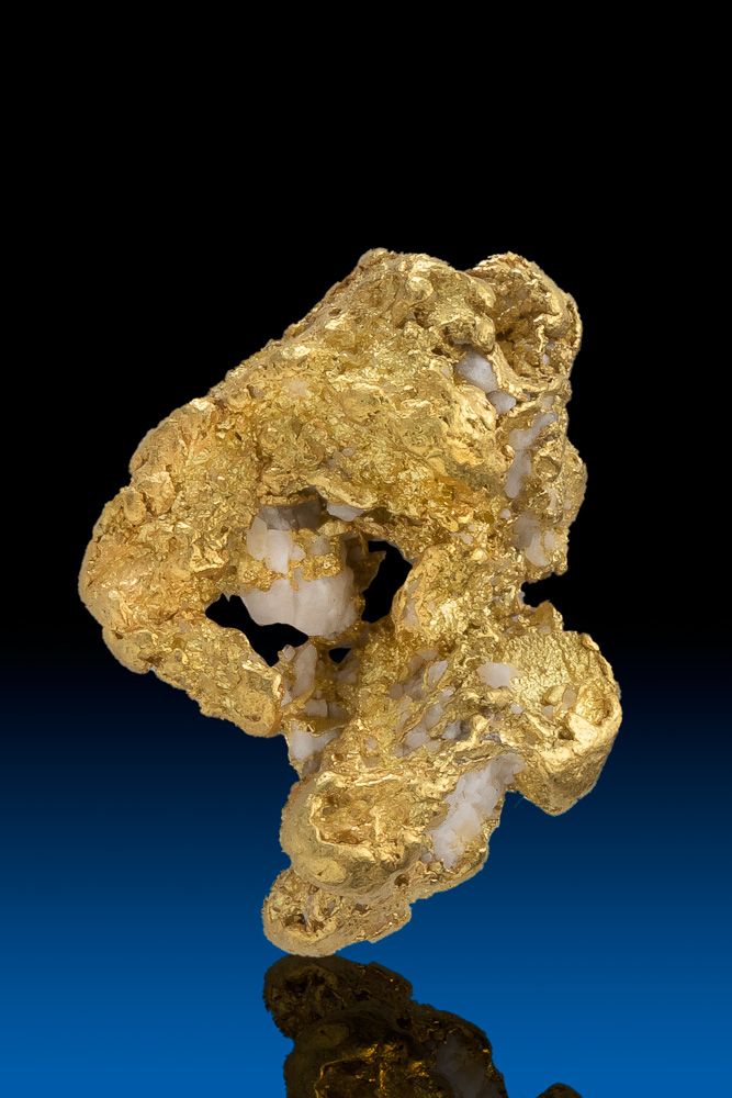 Chunky and Intricate Natural Gold and Quartz Nugget - Alaska
