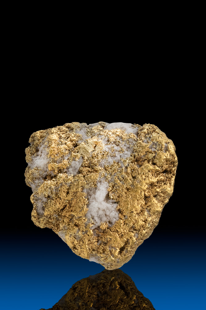 "Coarse ""Sandstone"" Textured Gold and Quartz Nugget - Alaska"