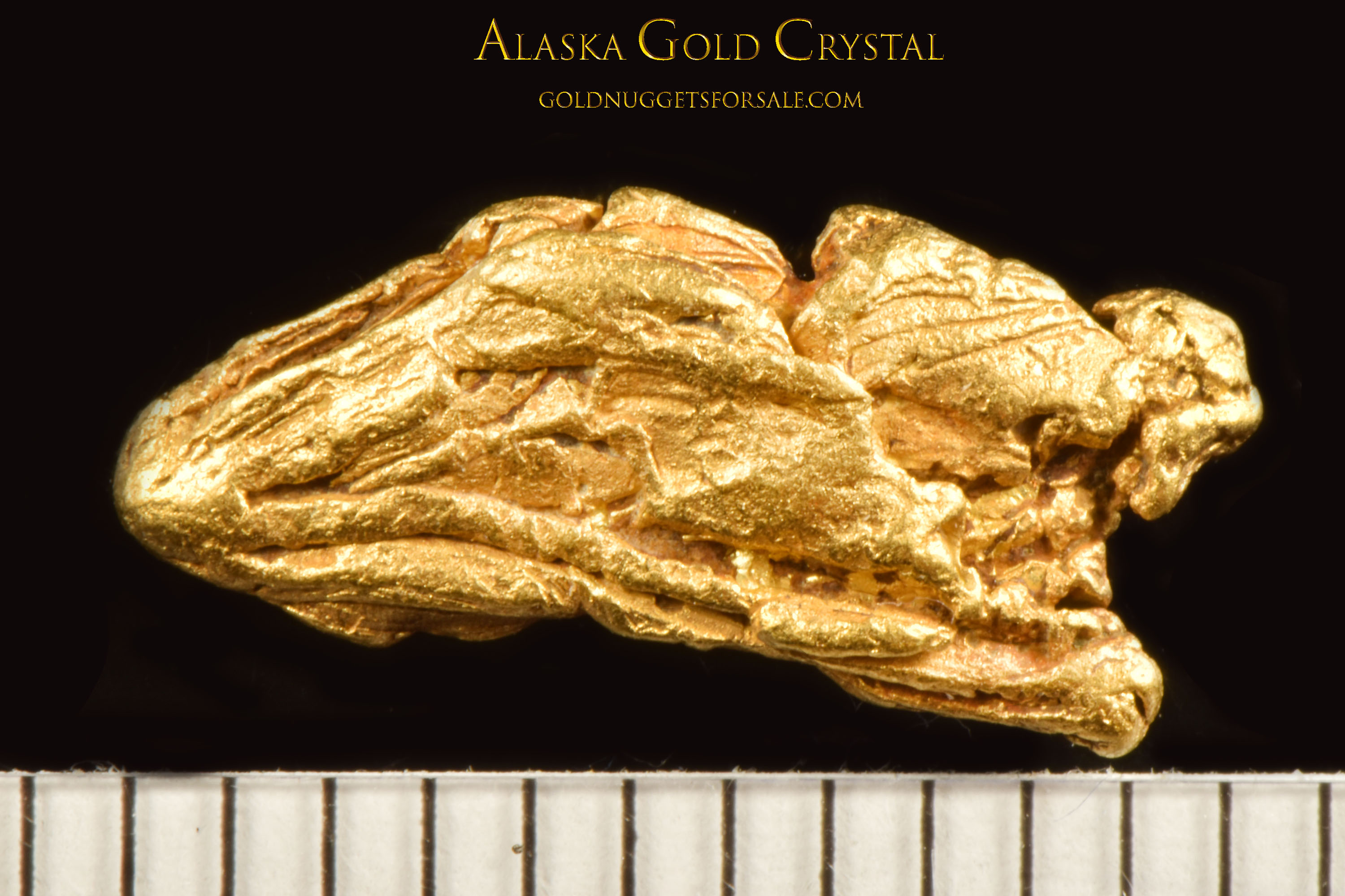 Amazing Gold Crystals - Gold Nugget from Alaska