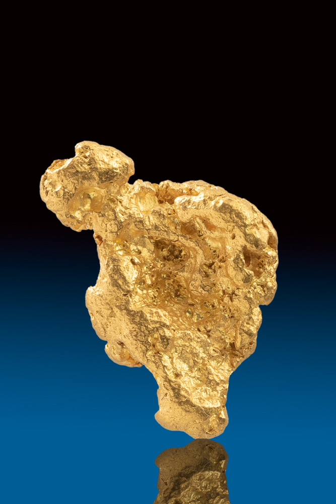 Splendid and Sharp Color - Natural Australian gold Nugget