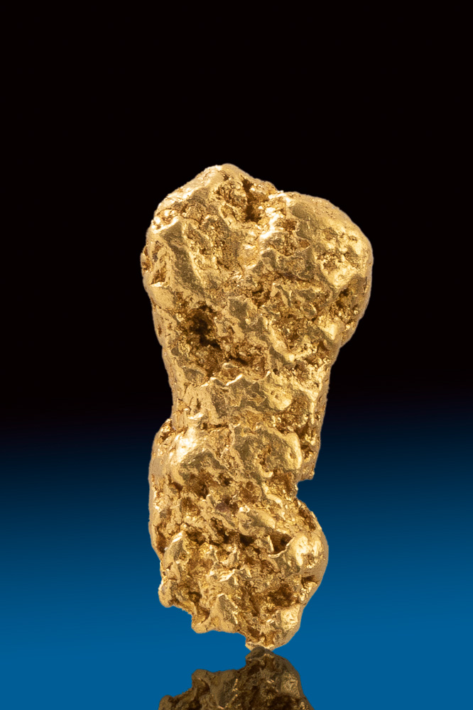 Oblong and Detailed Gold Nugget from Australia