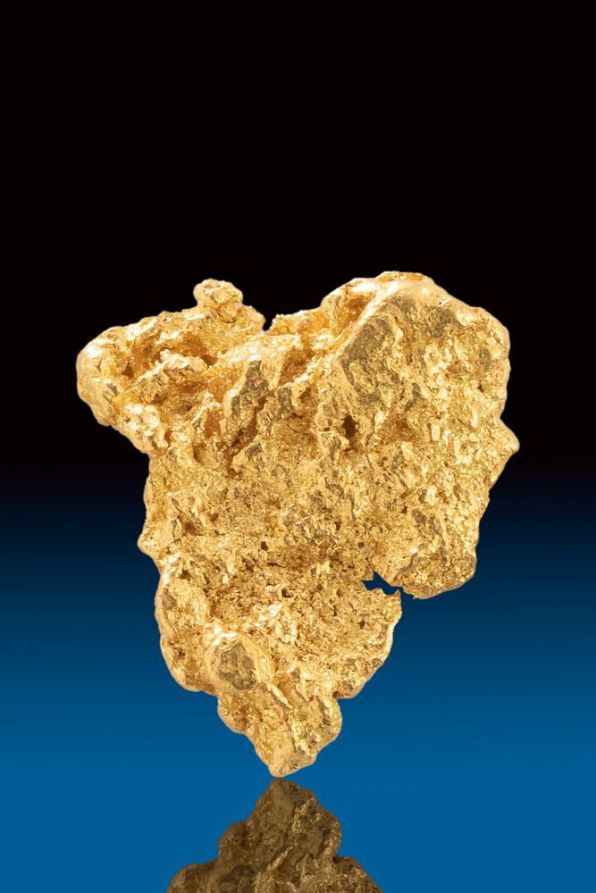 Triangular Shaped and Textured Australian Gold Nugget