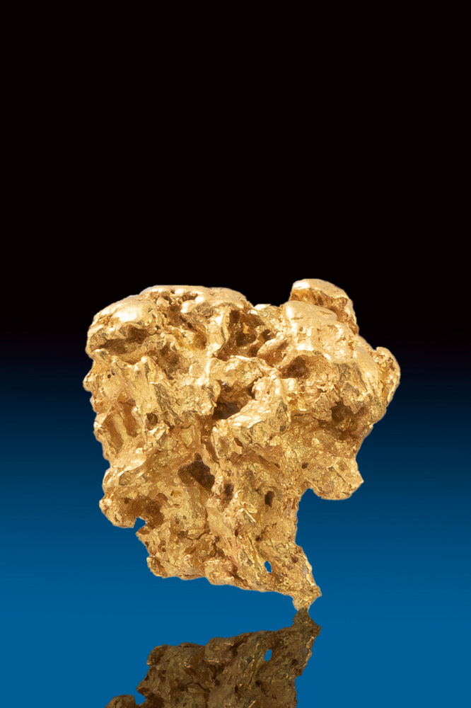 Faceted and Textured - Rounded Australian Gold Nugget