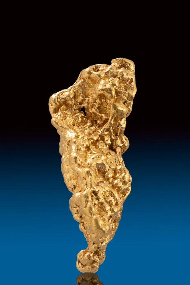 Elongated and Textured Jewelry Grade Australian Gold Nugget