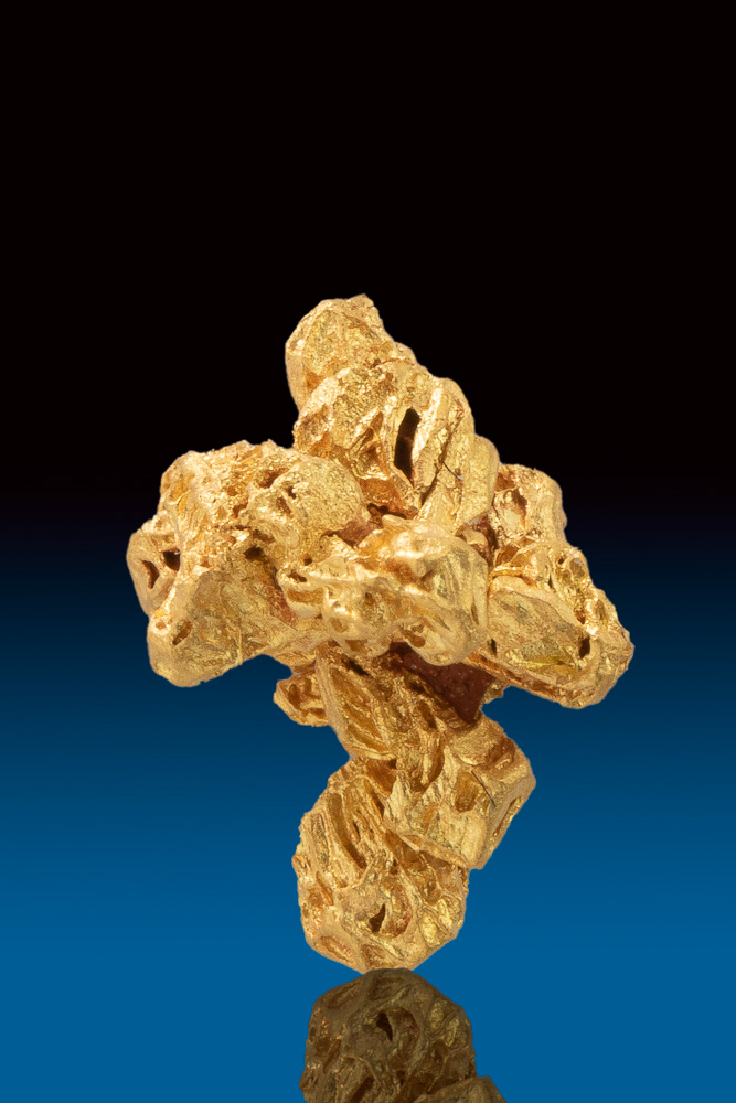 Sandstone Textured Gold Nugget - Jewelry Grade