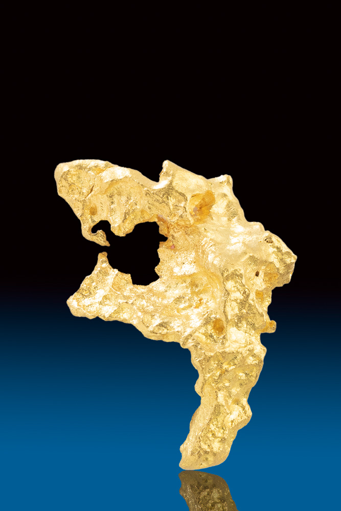 From The Salt Lake Region - Fantastic Form - Gold Nugget