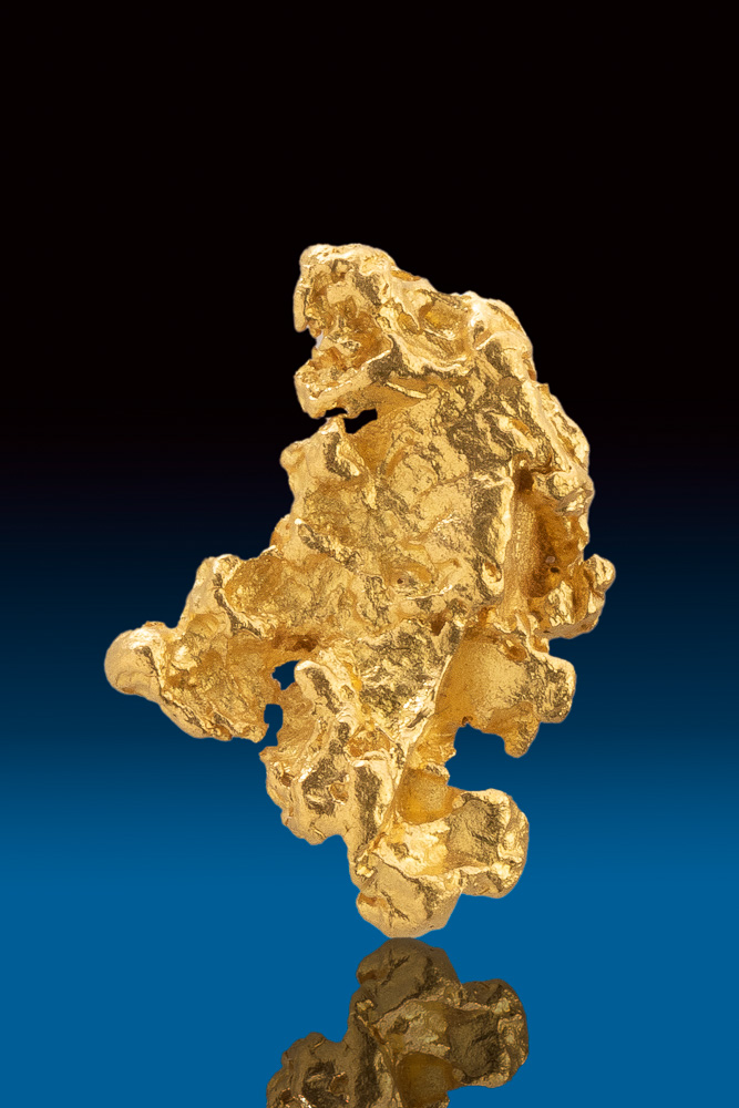Brilliant Lacy Textured Natural Gold Nugget from Australia