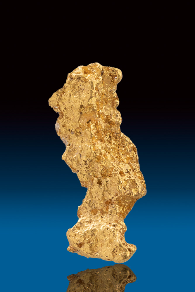 Elongated Textured Natural Gold Nugget from Australia