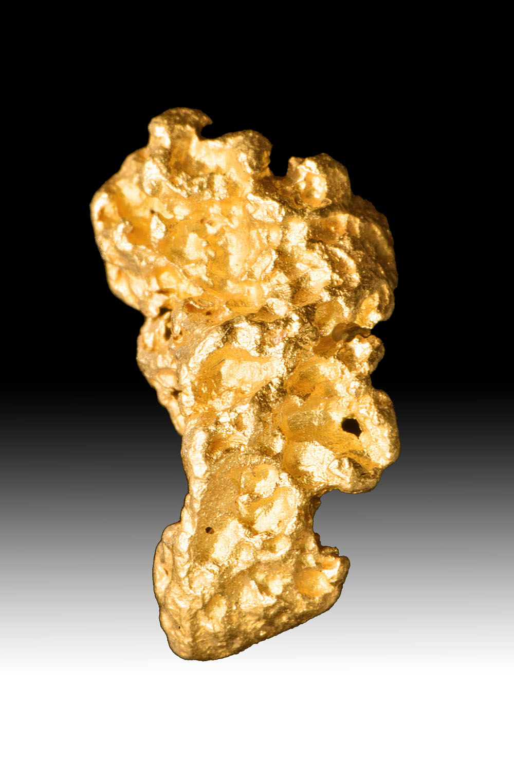 Oblong and Textured - Jewelry Grade Australian Gold Nugget