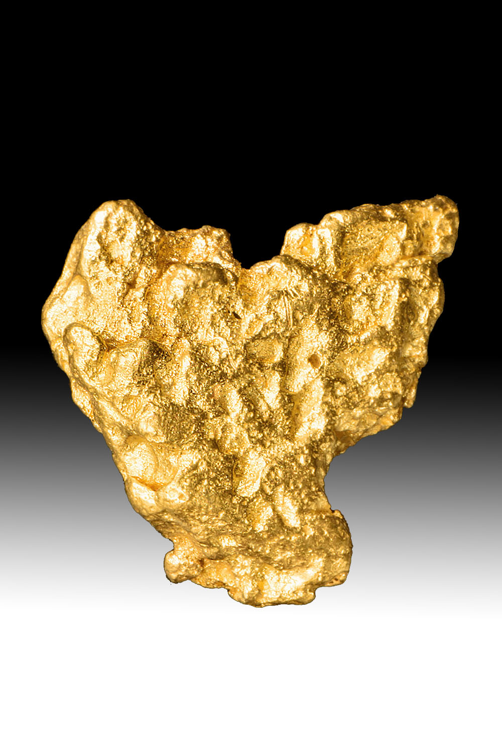 "Offset ""Triangle"" Shaped Textured Australian Gold Nugget"