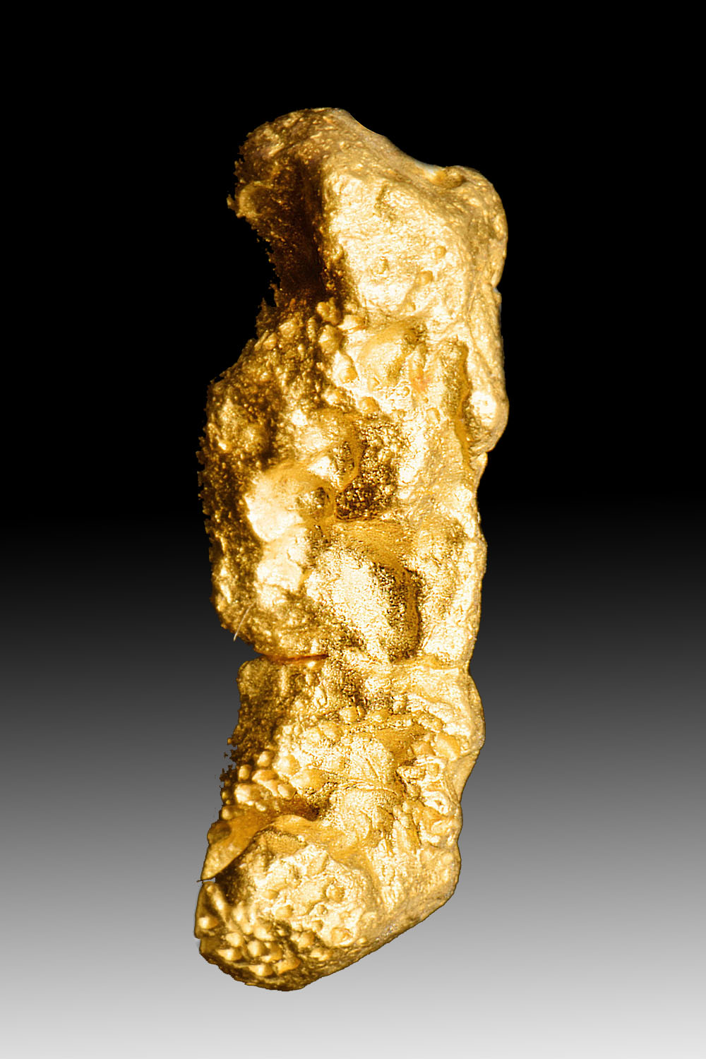 "Very Cool - Unusual ""Tube"" Shaped Australian Gold Nugget"