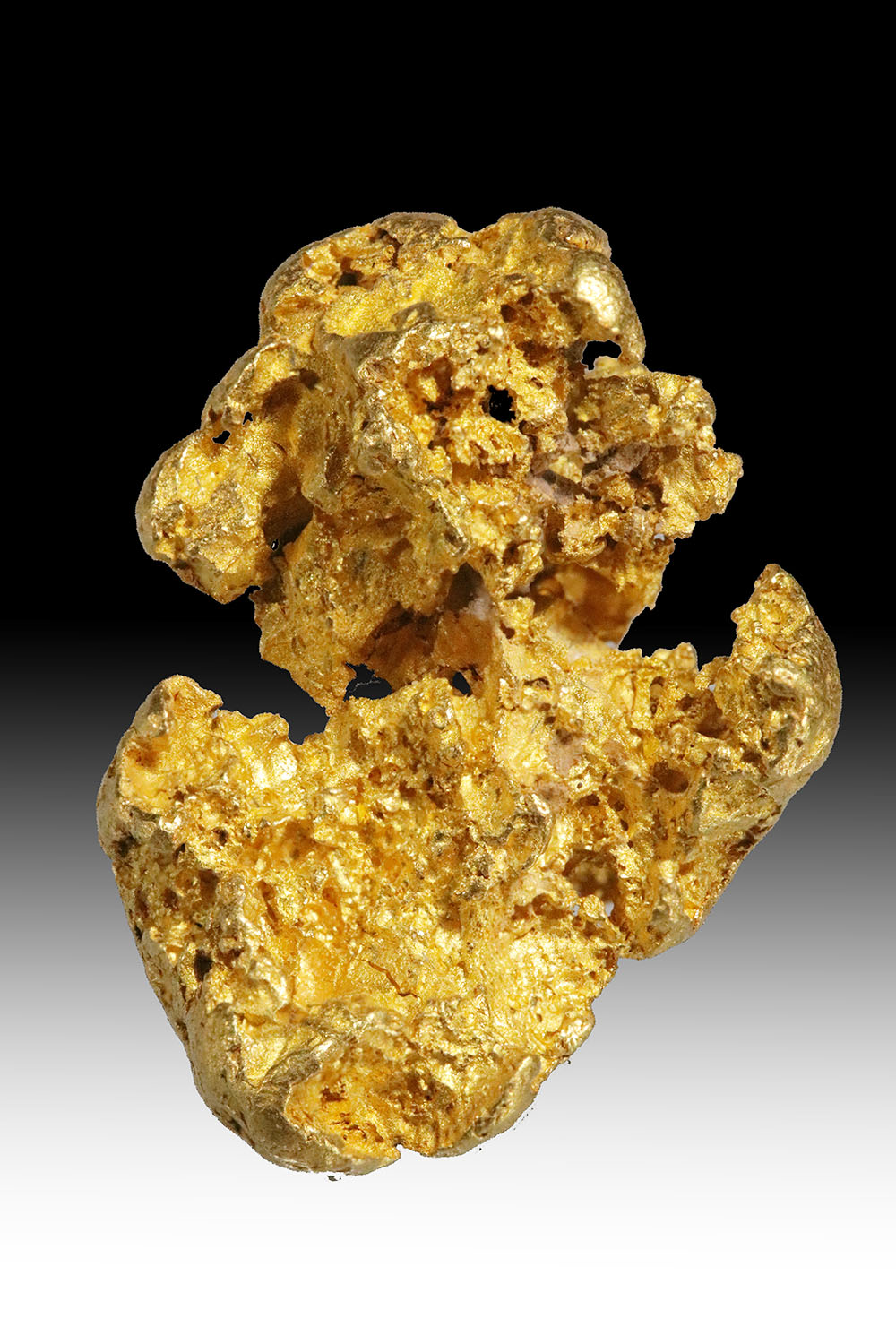 "High Purity ""Squashed Grape"" Shaped Jewelry Grade Gold Nugget"