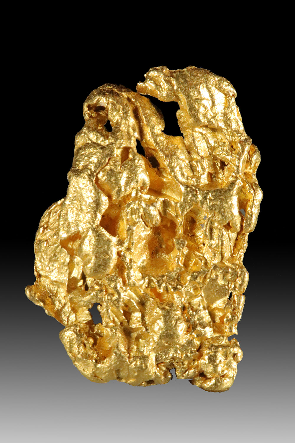 Spectacular Glowing and Cavernous Raw Australian Gold Nugget