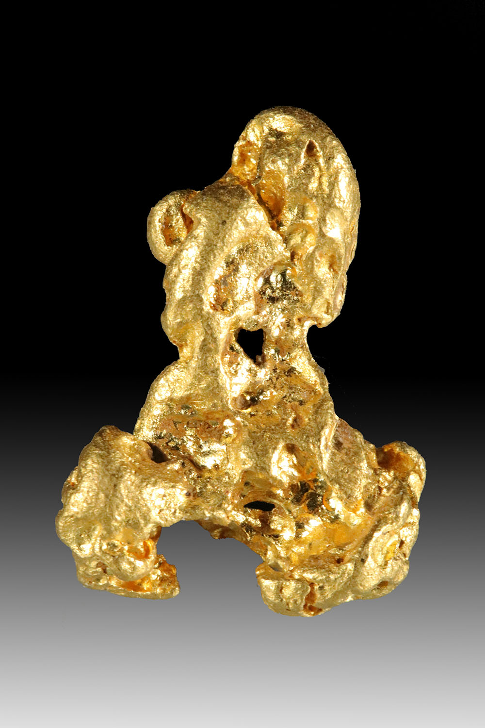 Superb and Curiously Shaped Natural Australian Gold Nugget