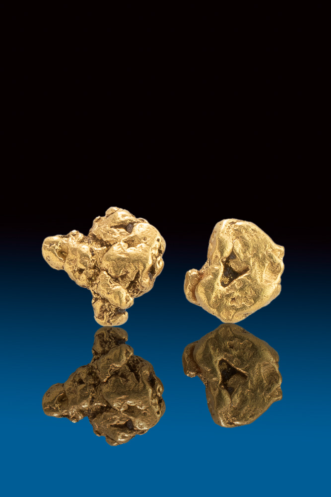 Two Unique Natural Gold Nuggets from the Bering Sea