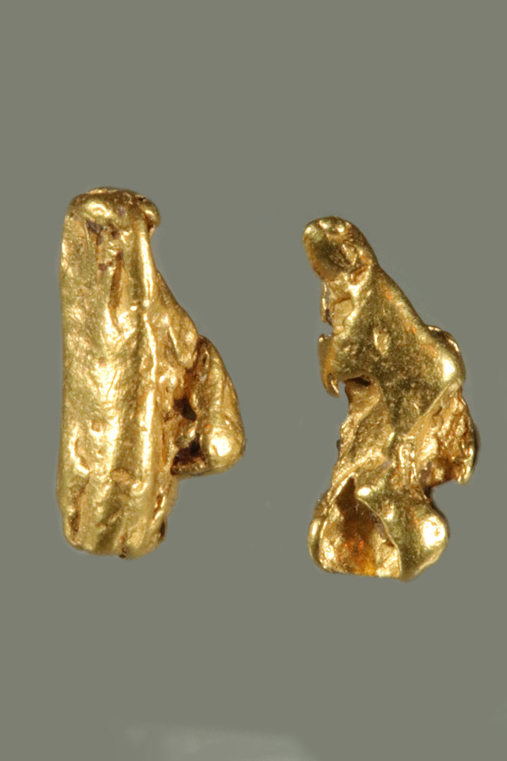 Shiny Pair of Natural Gold Nuggets from the Bering Sea