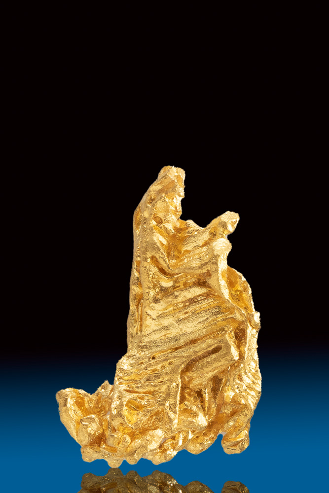 Brilliant Chunky Hoppered Gold Crystal Specimen from Brazil