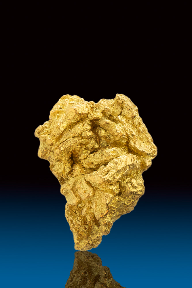 Beautifully Detailed Natural Crystalline Gold Nugget - Calaveras