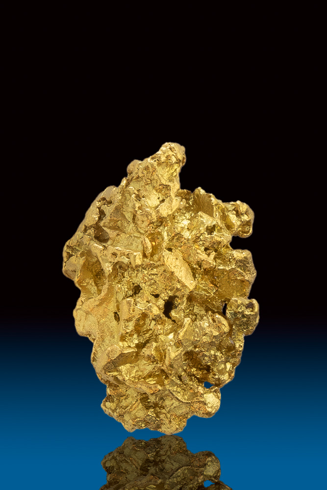 Faceted and Sharp Natural Gold Nugget - Calaveras County, CA