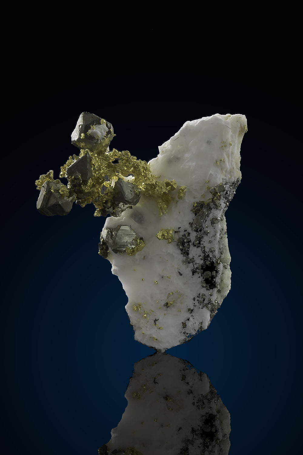 An oddity - Gold, quartz, and pyrite crystals