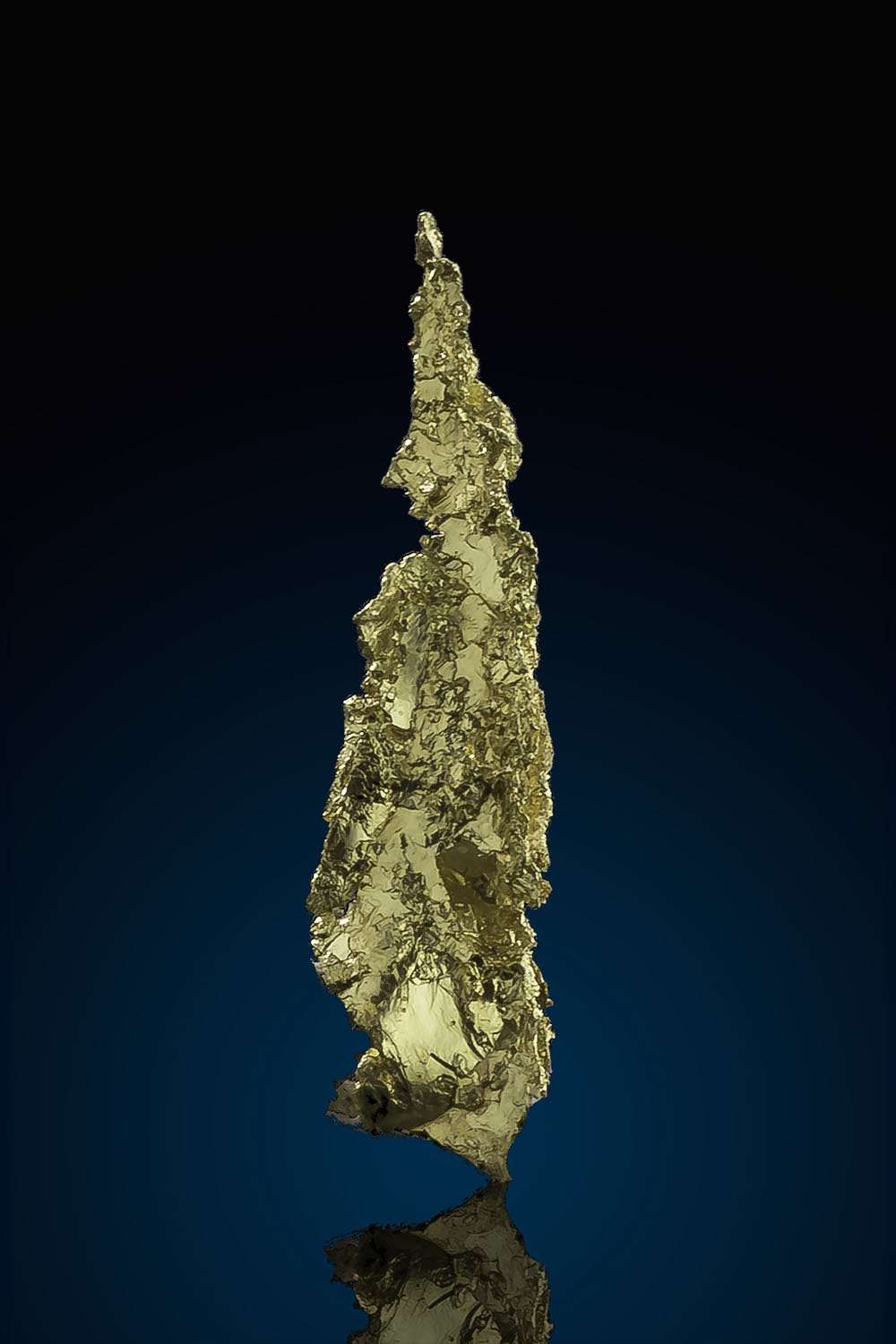 Sharp and Tapered Crystalline Gold - Allegheny Mining District