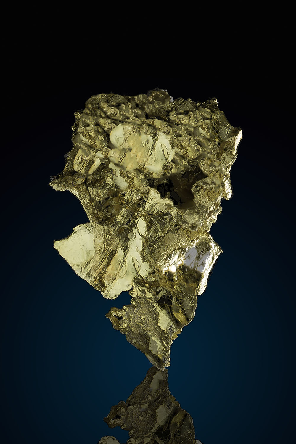 Large Intricate Crystalline leaf Gold - Allegheny California