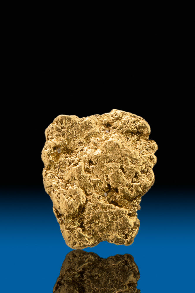 Textured Leaf Gold Nugget - Calaveras County, California