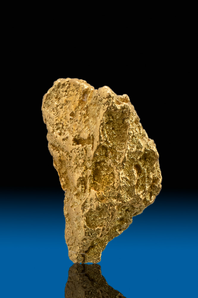 Chunky Brilliant Crystalline Gold Nugget from Calaveras, CA