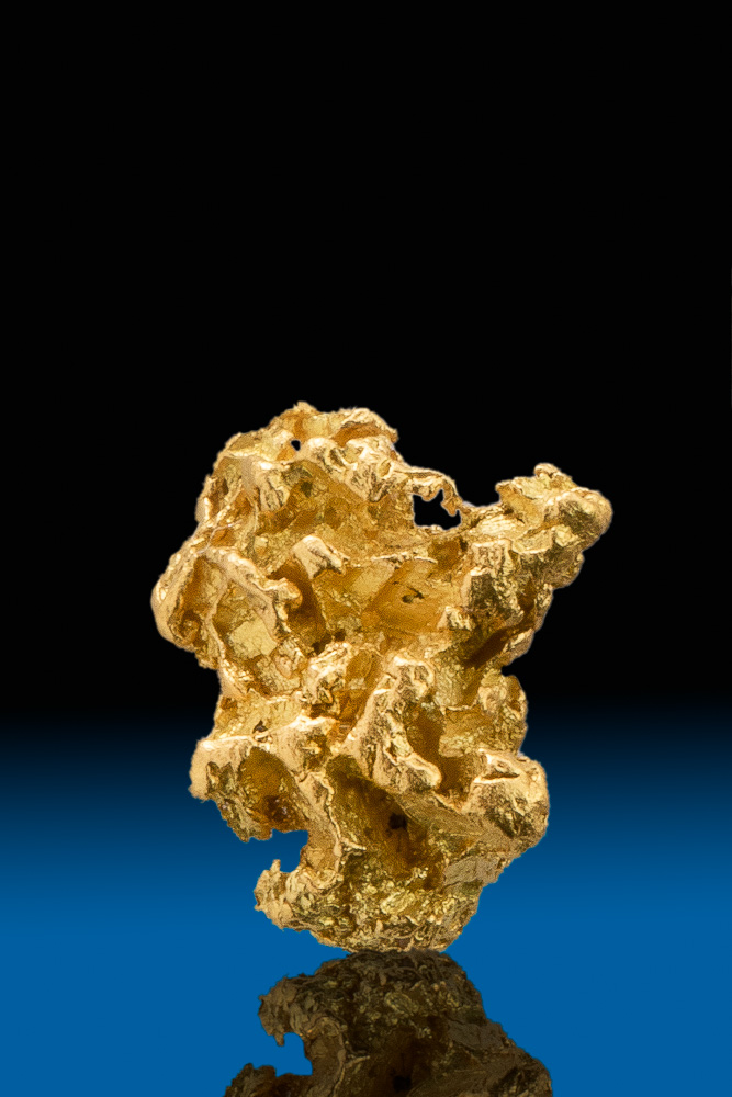 Intricate and Chunky Natural Crystalline Gold Nugget -California