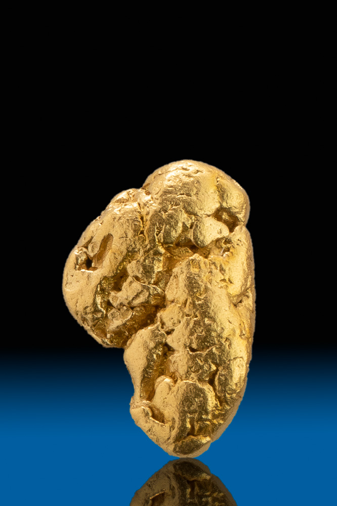 River Worn -Brilliant Color- Natural Gold Nugget from California